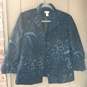 Chico's Evening jacket size Chico 0 and US 4 Blue